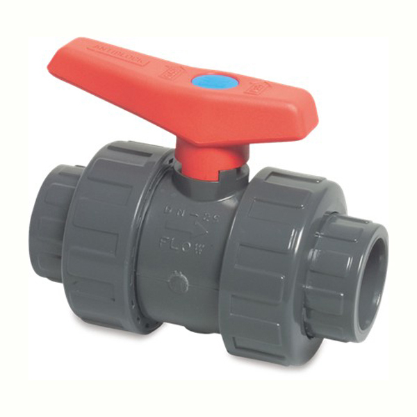110mm Waste Pipe Double Union Ball Valve 1