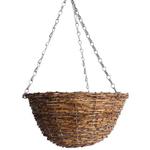 """12""""  Ratten Round Hanging Basket"""