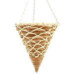 "14"" Banana Leaf Cone Hanging Basket."