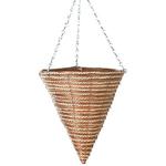 """14"""" Fern & Sisal Cone Hanging Basket"""