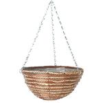 """14"""" Fern & Sisal Round Hanging Basket"""