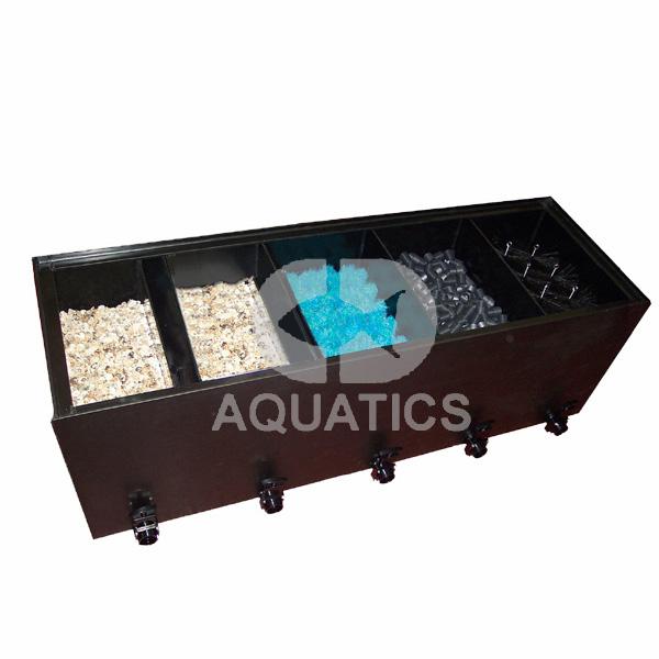 5 chamber multibay pond filter setup cd aquatics 5 for Pond filter setup