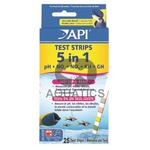 API 5-in-1 Aquarium Test Strips 25pk