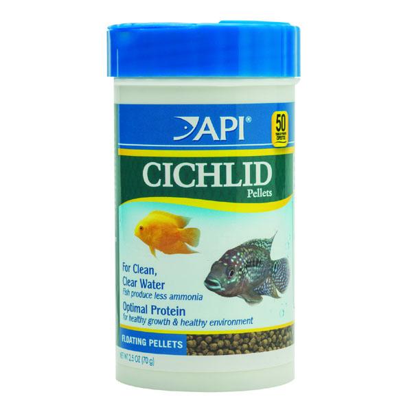Api cichlid pellets cd aquatics api cichlid pellets for Cichlid fish food