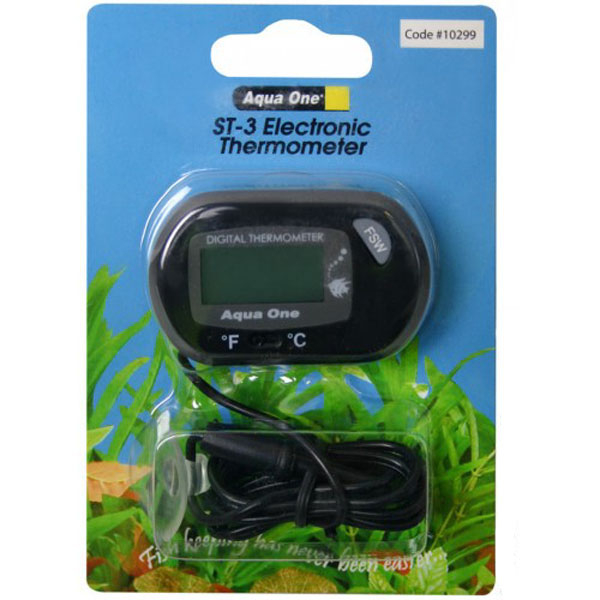 Aqua One LCD Electronic Thermometer ST-3 1