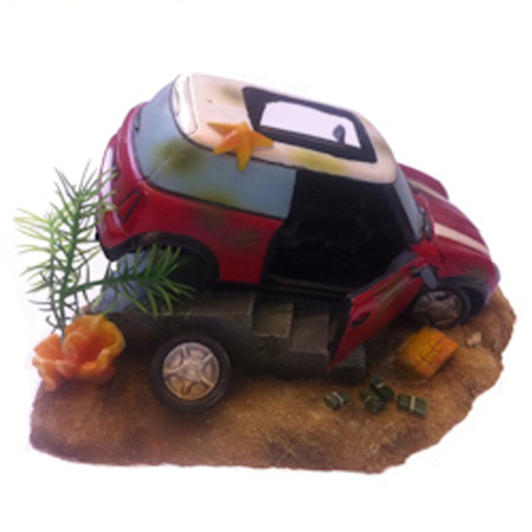 Betta Mini Car Wreck Ornament 1