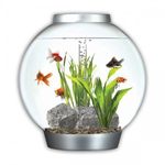 Biorb With Light 30ltr Silver Tropical Aquarium