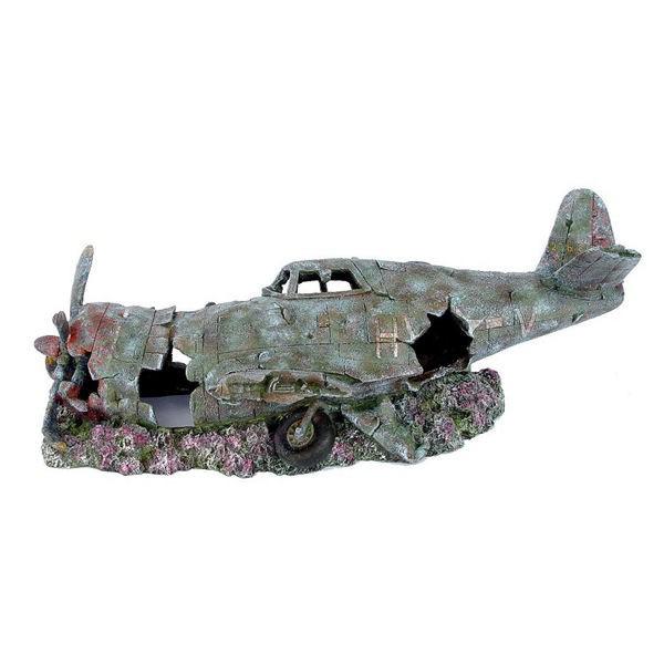 Plane Wreck Aquarium Ornament Small 1