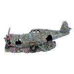 Plane Wreck Aquarium Ornament Small