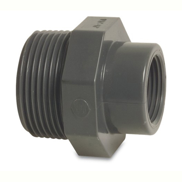 Pvc imperial pressure pipe male to female threaded reducer