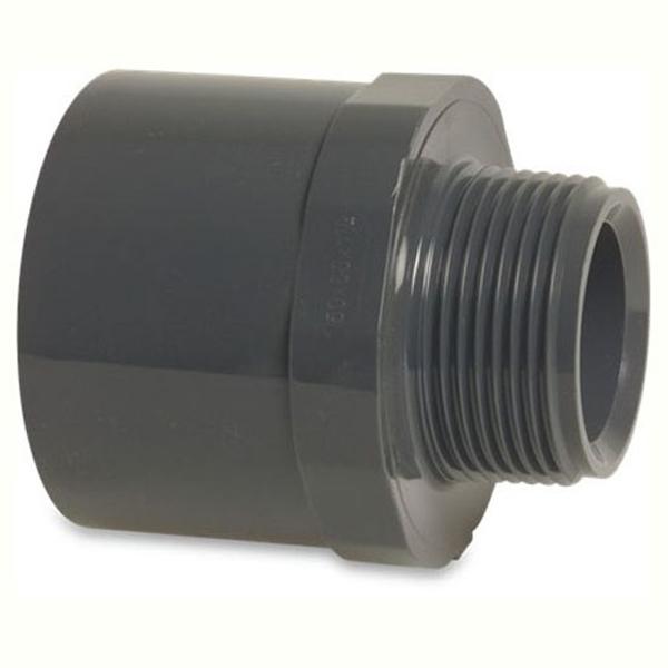Pvc metric pressure pipe socket plain to threaded male bsp