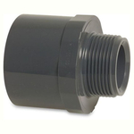 Pvc Metric Pressure Pipe Socket Plain to Threaded Male Bsp